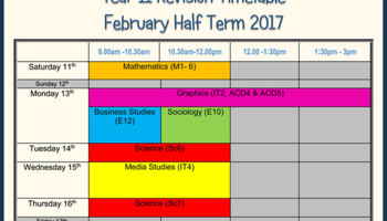 Half Term Revision Sessions