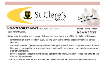 St Clere's in Focus - Summer 2017