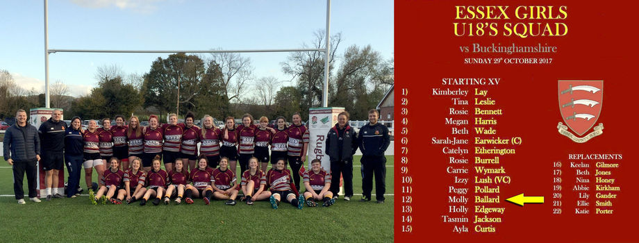 Essex U18 Girls Rugby Duo