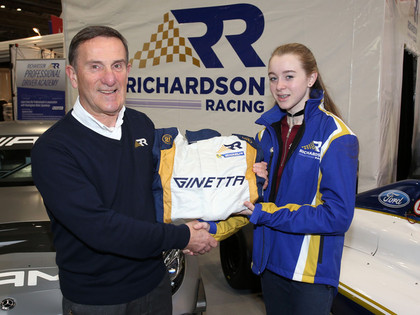 Emily with head of Richardson Racing 1