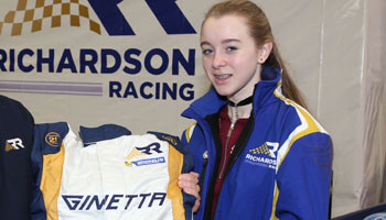 Emily Signs for Top Race Team
