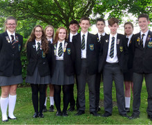 Head Boy, Head Girl, Snr prefects 2017 18 LABEL