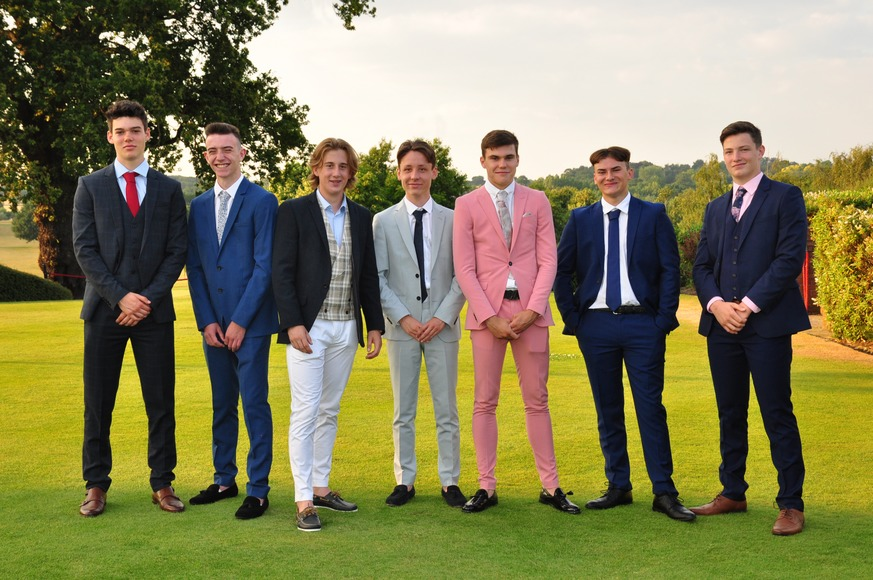 Some year 11 boys dressed in stylish clothing