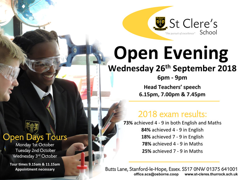 OPEN EVENING 2018 invite