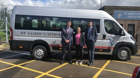 Alumni Support Purchase of New School Minibus