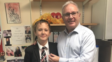 Year 7 Receives Platinum Award