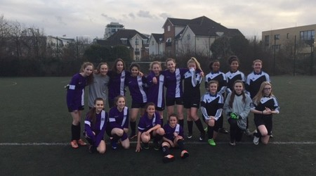 Year 9 Girls Crowned Barnet Football Champions