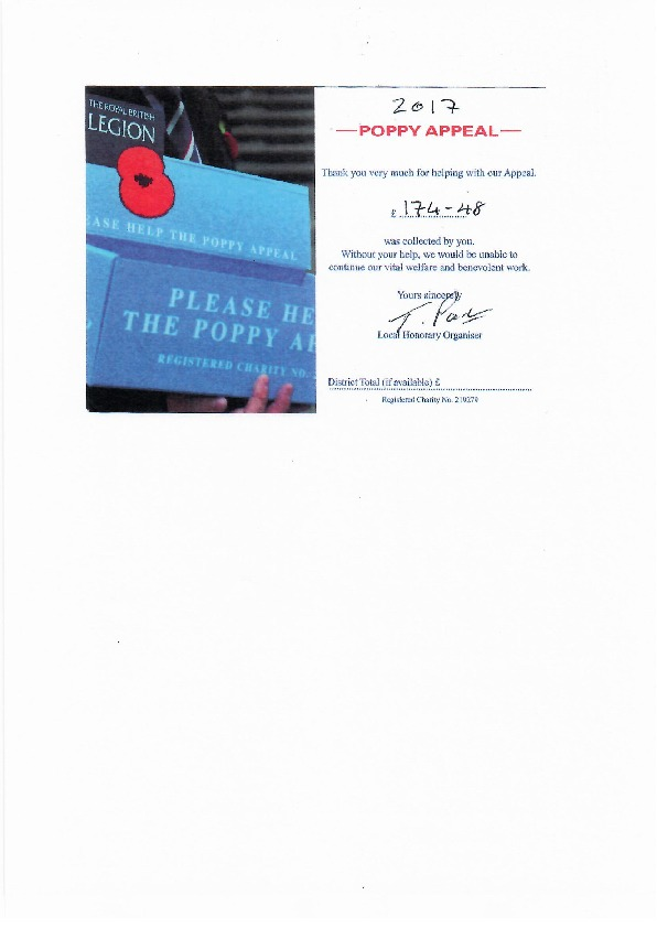 Poppy appeal results