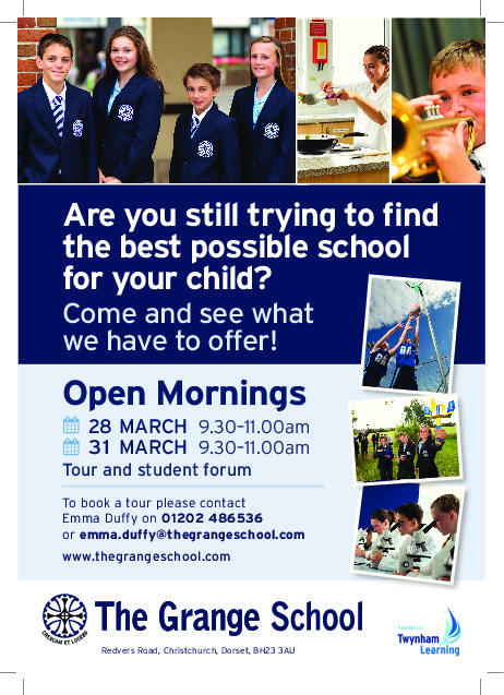The Grange Open Morning Flyer