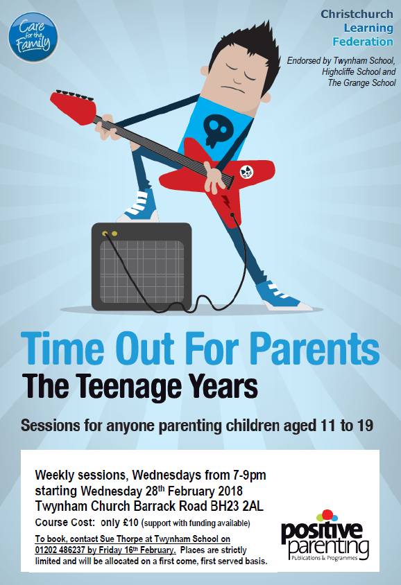 Time out for Parents flyer picture