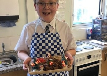 Charlie Wins Year 7 Yule Log Decorating