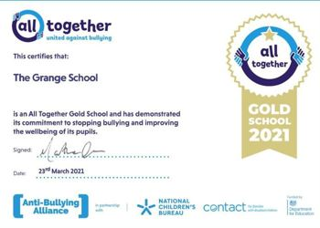 Gold Award for Anti-Bullying