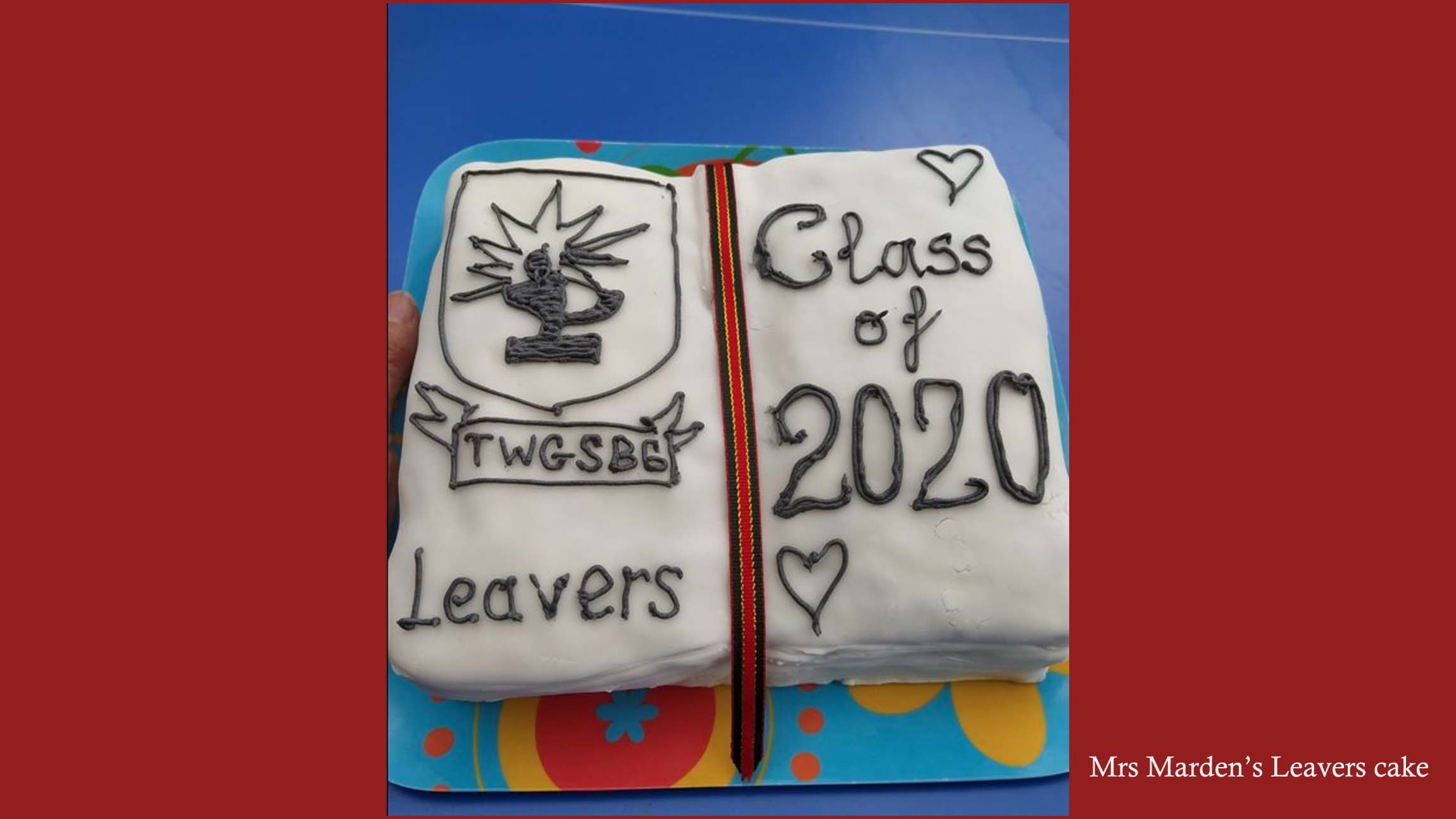 Mrs mardens leavers cake 1