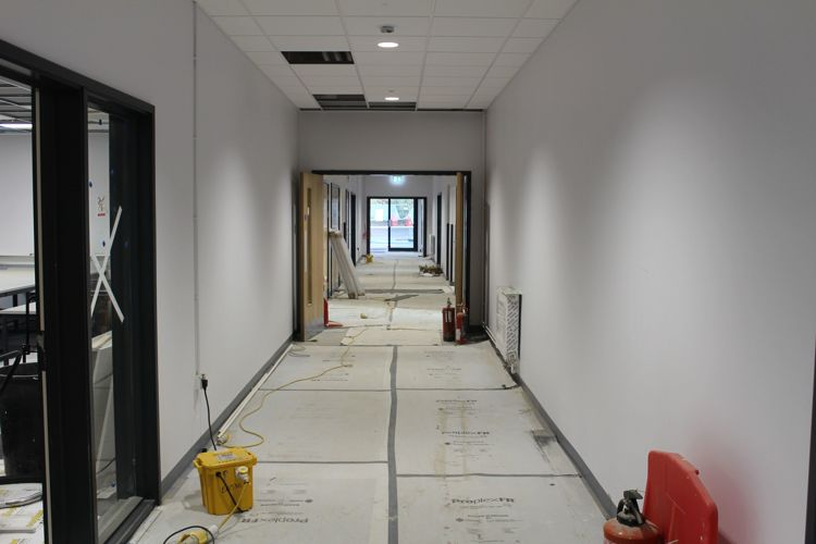 New bldgs m and t corridor