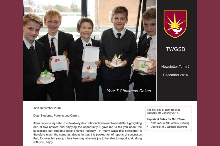 Headteacher newsletter dec 2016 image