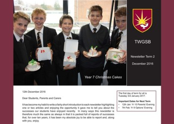 Headteacher's End of Term Newsletter December 2016