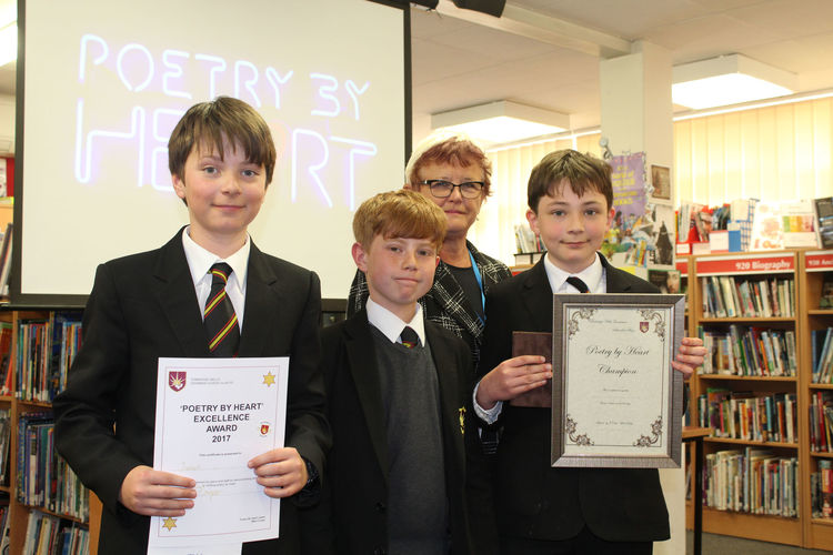 'Poetry by Heart' competition winners