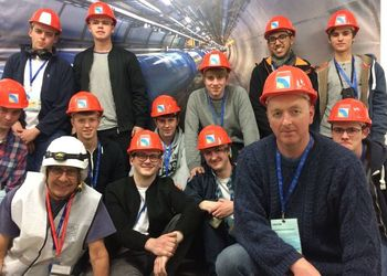 Students visit CERN - home to the world's largest Particle Accelerator