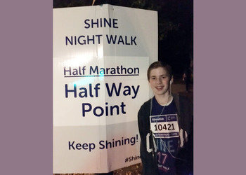 Year 9 Student successfully completes shinewalk half marathon