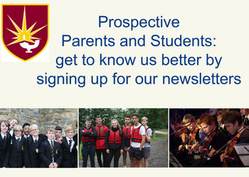 Prospective students/parents sign-up for news