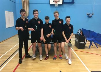 Table Tennis U16 reach the regional finals