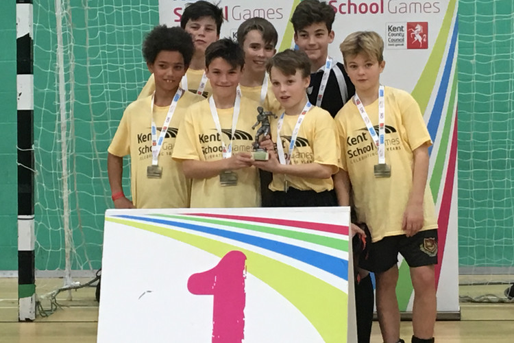 Year 7 Futsal Kent Champions February 2018 2