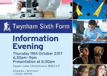 Twynham Sixth Form Information Evening