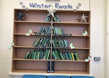 Twynham Library is ready for Christmas!