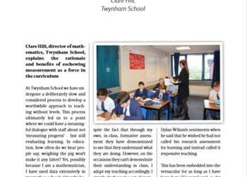 Mrs Hill writes for the SSAT Journal