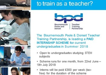 Summer paid intern scheme for STEM undergraduates