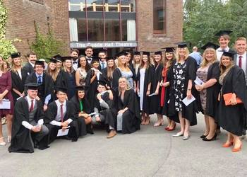 Trainee teachers celebrate the successful completion of their training year with a graduation ceremony