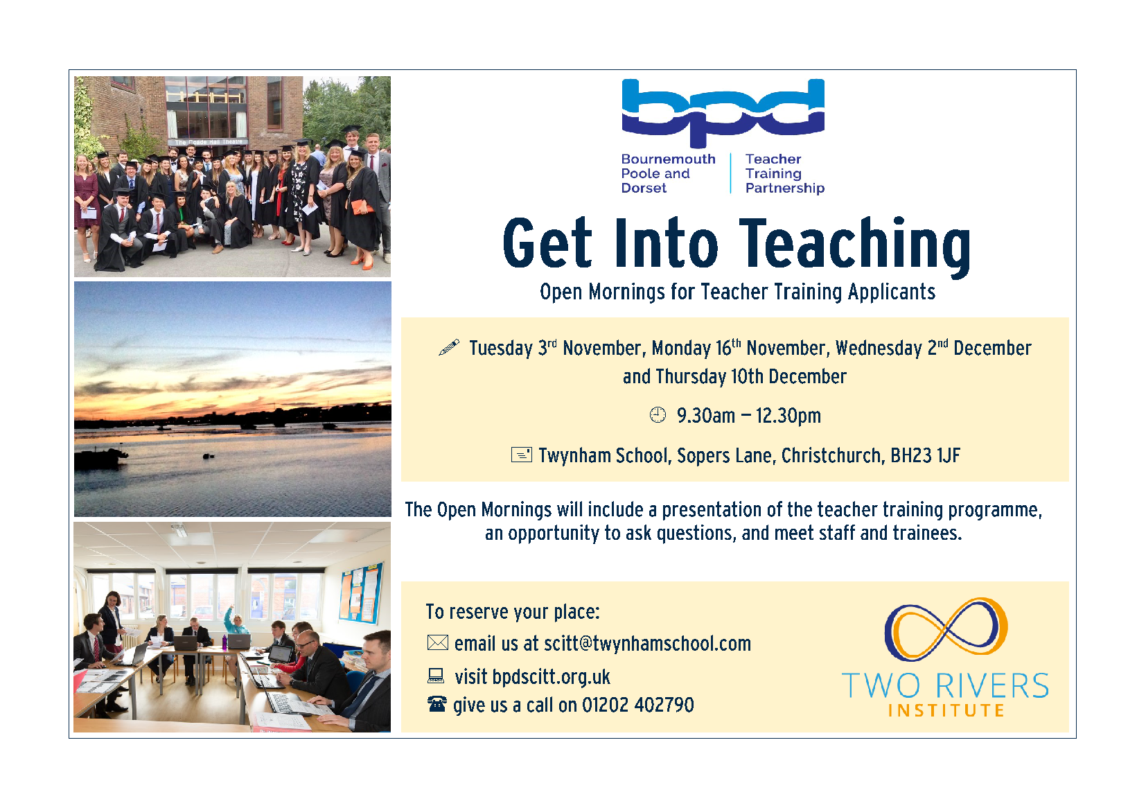 BPD Scitt Open Morning Flyer 2020
