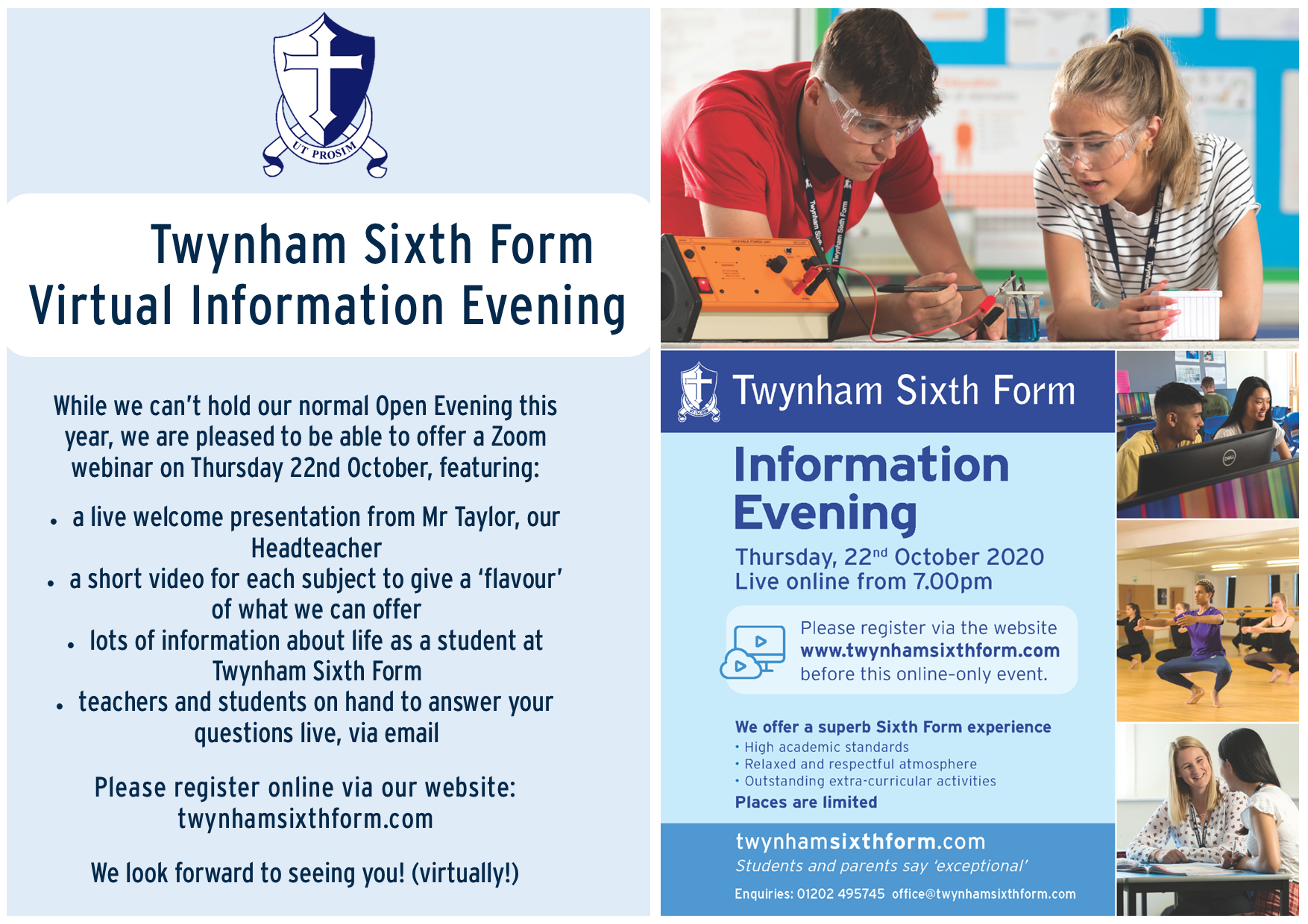 Sixth Form Open Eve