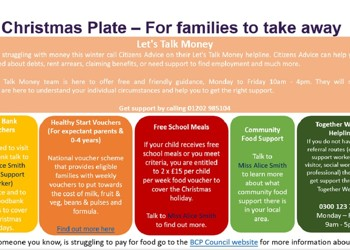 Christmas Plate for Families - Help and Advice