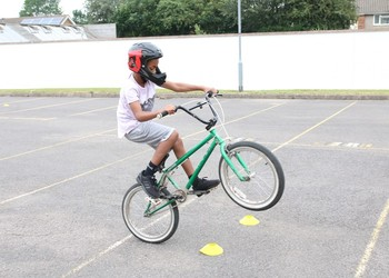 BMX racing for the students