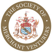 Merchant Venturers Logo White on Gold