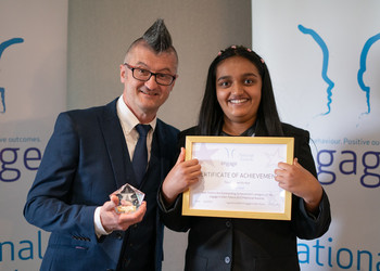 Gold Prize for Outstanding Achievement at the Engage National Award Ceremony