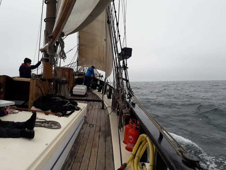 Day 5   sailing in the mist IMG 20190529 WA0000