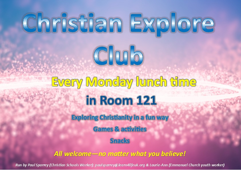 Christian Explore Club poster
