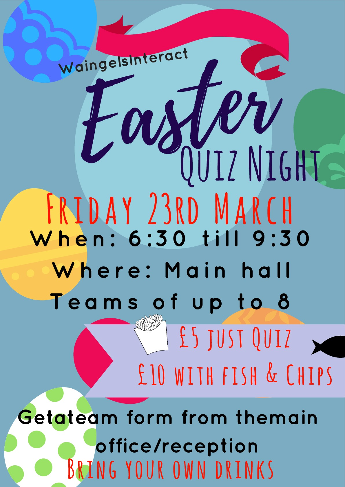 Easter Quiz Poster