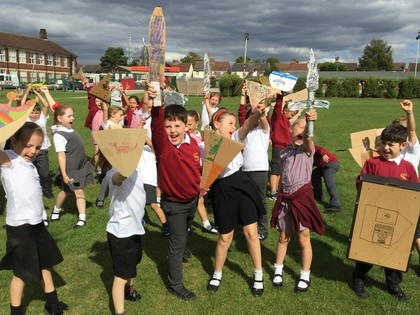 Class 3A Battle Of Hastings Re-Enactment