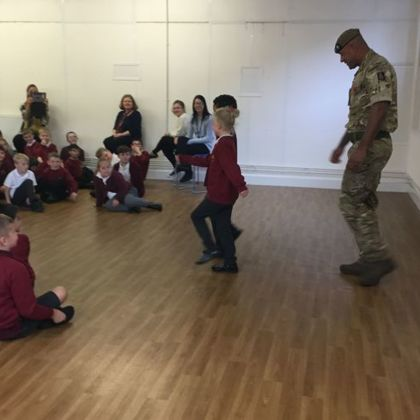 Army Sgt Carl Visit to WJS