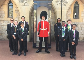 Year 7 students' day with royalty at Windsor Castle