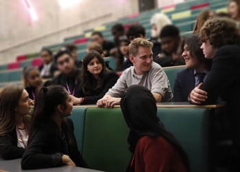 Top British film director visits Westminster Academy