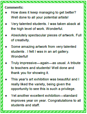 Art exhibition comments