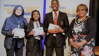 "Naomi Thevaseyan - awarded 2nd place at the Harrow Regional Final of Jack Petchey's ""Speak Out!"" Challenge!"