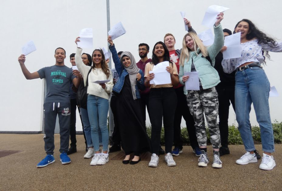 A level results header