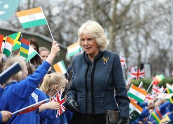 Duchess of Cornwall visits Barncroft Primary School