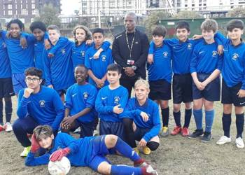 Year 8 boys football team win